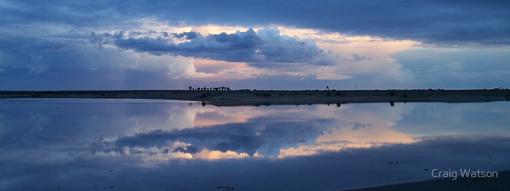 Reflections of passing storm near Yorketown In South Australia by Craig Watson
