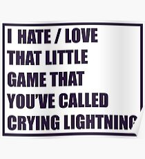Crying Lightning (Quote) - Arctic Monkeys Poster
