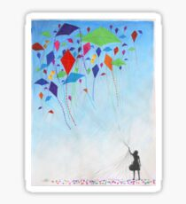 Kite Girl Sticker