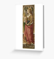 Carlo Crivelli - Mary Magdalene Greeting Card