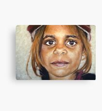 Girl in Cap II Canvas Print