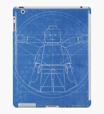 Vitruvian lego man blueprint  iPad Case/Skin