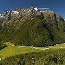 The Routeburn Valley, New Zealand by Kevin McGennan