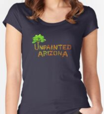 Would you shop at a store called Unpainted Huffheins? (Raising Arizona) Women's Fitted Scoop T-Shirt
