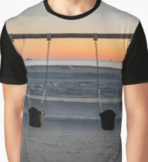 Dawn Behind A Swing Set | New York City, New York Graphic T-Shirt