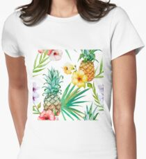 Tropical Fruit - Pinapple Womens Fitted T-Shirt