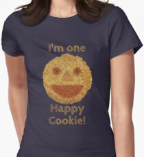 I'm one Happy Cookie! Tailliertes T-Shirt für Frauen