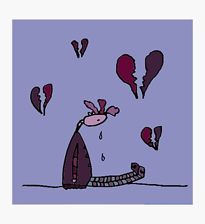 Silly Had Her Heart Broken. Love Was Not All Roses Photographic Print