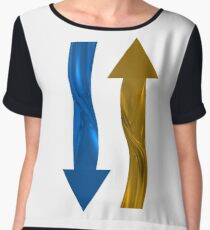 Gold and blue arrows Chiffon Top
