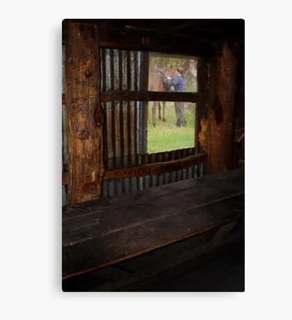 High Country Rider Canvas Print