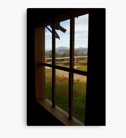 Window View Craig's Hut Canvas Print