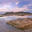 entrance point rock pool sunset  by Elliot62