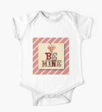 Be mine.Valentine,love,typography,cool text, rustic,modern,trendy,girly One Piece - Short Sleeve
