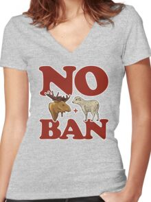 No Moose + Lamb Ban Women's Fitted V-Neck T-Shirt