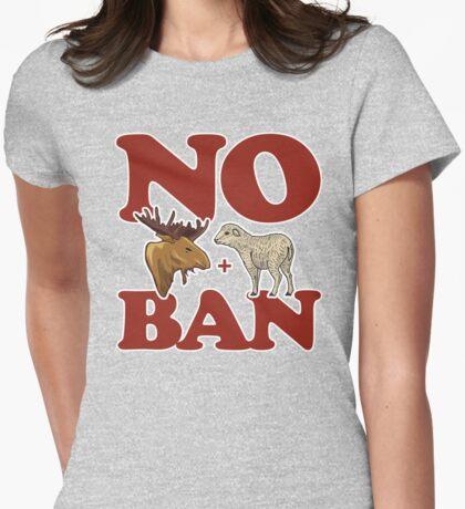 No Moose + Lamb Ban Womens Fitted T-Shirt