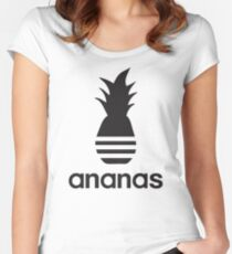 Ananas parody logo Women's Fitted Scoop T-Shirt