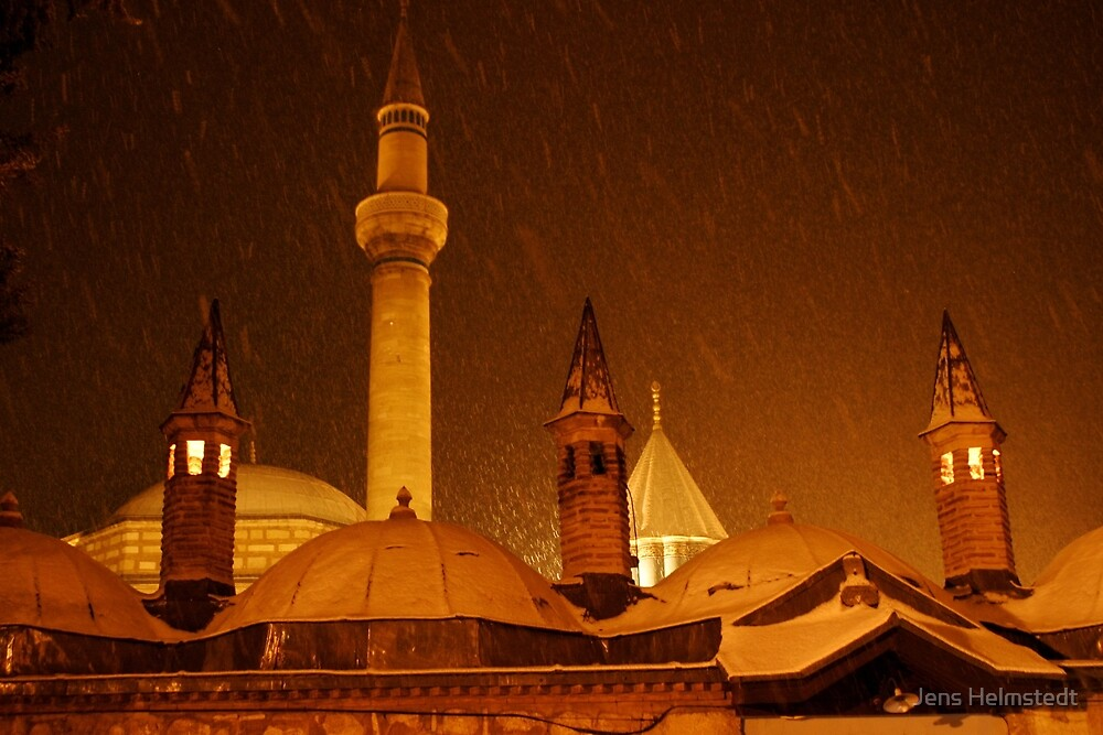 Winter Night at Mevlana Mausoleum by Jens Helmstedt