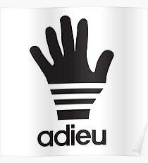 Adieu parody logo Poster