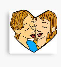 Heart-shaped couple Canvas Print