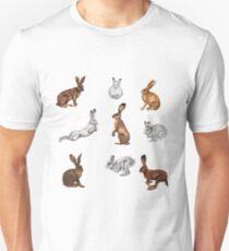 Hare, jackrabbits and bunnies Unisex T-Shirt