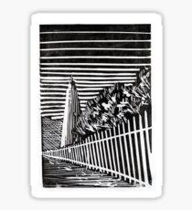 Ocracoke Island Lighthouse- Monoprint Sticker