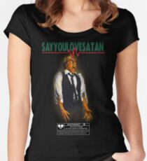 Say You Love Satan 80s Horror Podcast - Scanners Women's Fitted Scoop T-Shirt