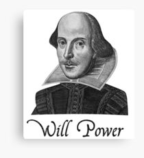 William Shakespeare Will Power Canvas Print