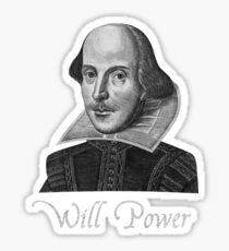 William Shakespeare Will Power Sticker