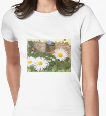 Spring flowers. Illustration Womens Fitted T-Shirt