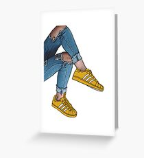 Ripped Jeans & Adidas Greeting Card