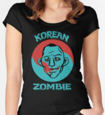 The Korean Zombie shirt Women's Fitted Scoop T-Shirt