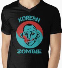 Camiseta para hombre de cuello en v La camisa de Zombie coreana