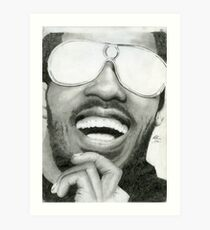 Stevie Wonder - Graphite Portrait Art Print