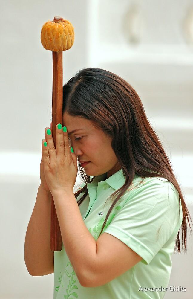 Woman Praying by Alexander Gitlits