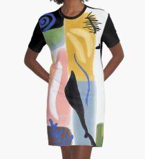 Matisse inspiriert Papierschnitt T-Shirt Kleid