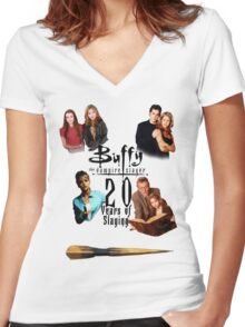 Buffy - 20 Years of Slaying Women's Fitted V-Neck T-Shirt