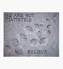 Statistices Photographic Print