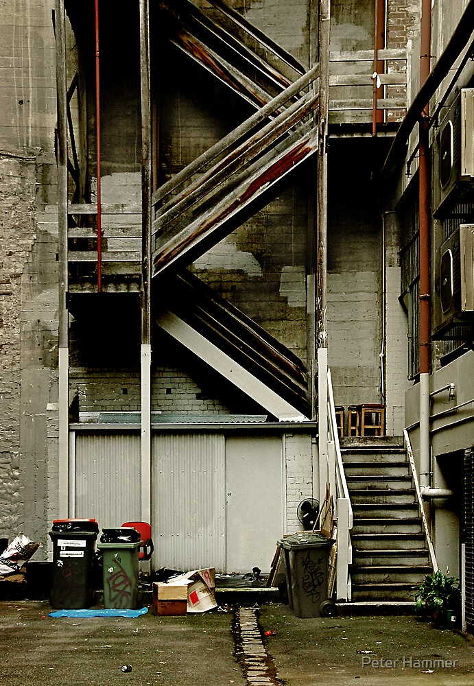 Alley staircase by Peter Hammer