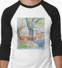 Playground at New Farm Men's Baseball ¾ T-Shirt