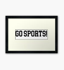 go sports Framed Print