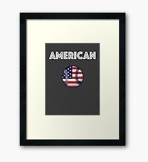 American Baseball Framed Print