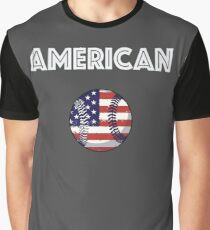 American Baseball Graphic T-Shirt