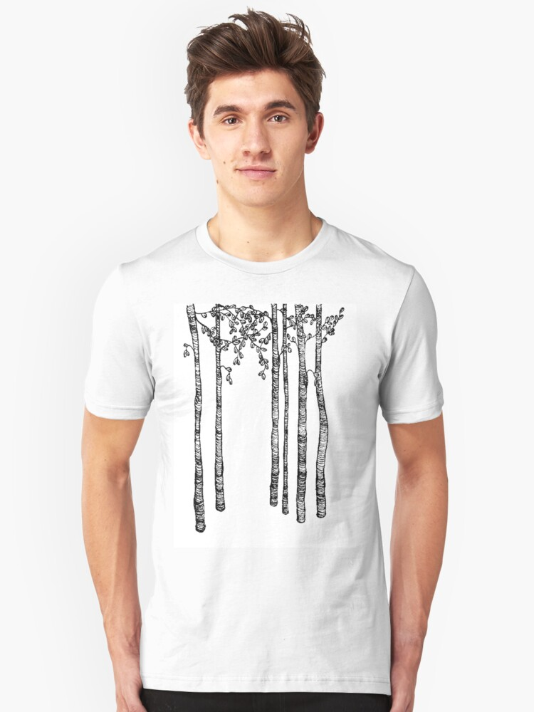 tall trees Unisex T-Shirt Front