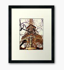 Rustic Eiffel Framed Print