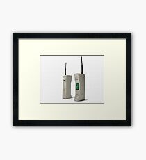 1980s iphone front and back Framed Print