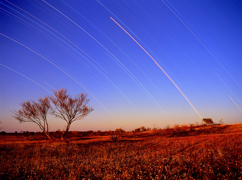 Star Trails,Cameron Corner.QLD by matthew maguire