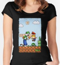 Super Calvin & Hobbes Bros. Women's Fitted Scoop T-Shirt