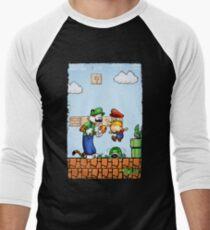 Super Calvin & Hobbes Bros. Men's Baseball ¾ T-Shirt