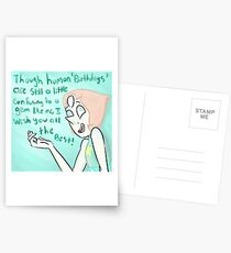 Pearl Birthday Card Postcards