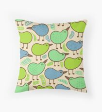Kiwi bird party Throw Pillow